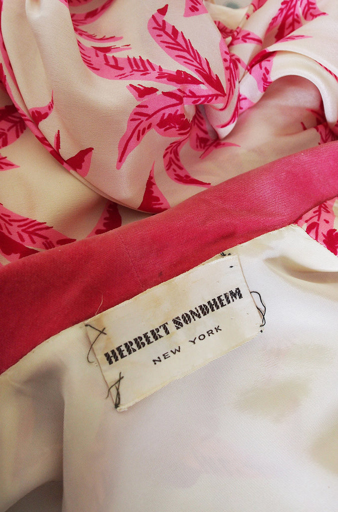 1950s Pink Herbet Sondheim Silk Dress & Jacket