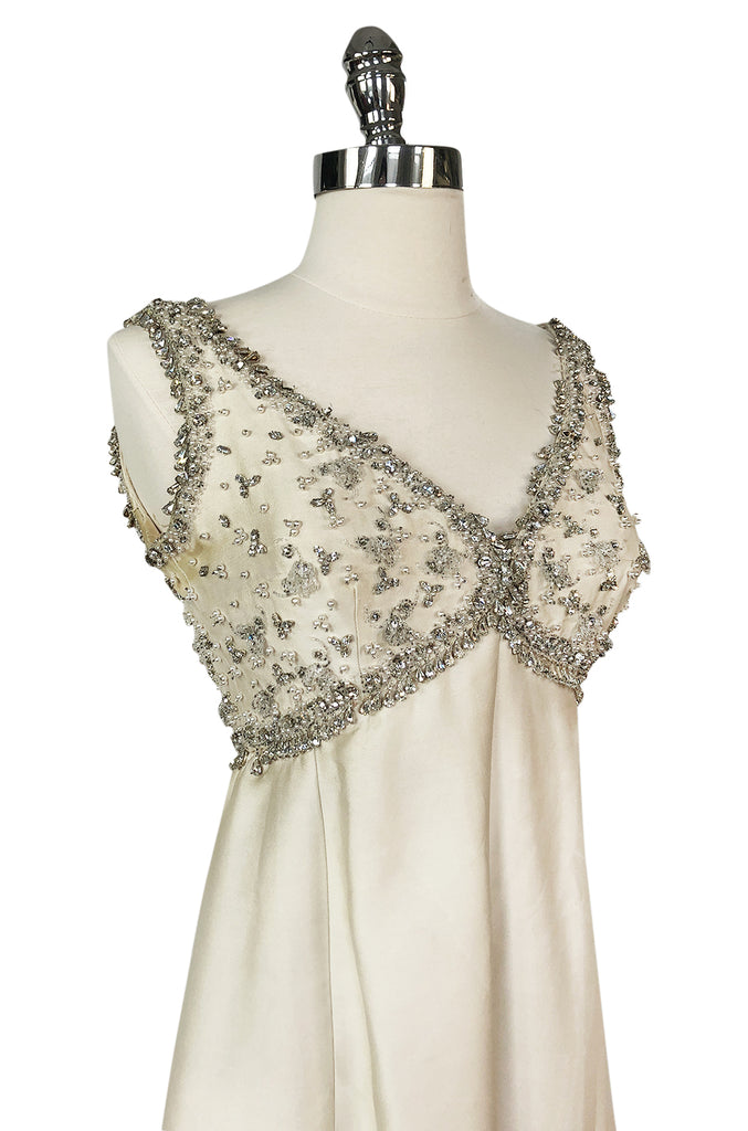 Early 1960s Christian Dior Numbered Colifichets Crystal & Pearl Project Dress