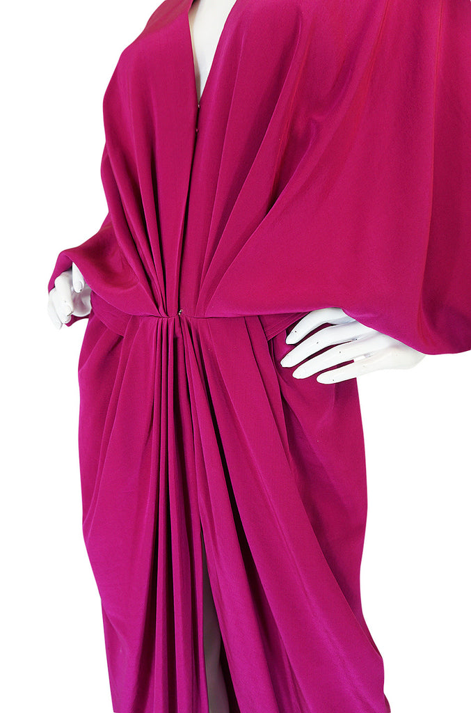 c.1960-63 Numbered Haute Couture Pink Silk Jean Patou Dress