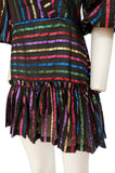Spring 2019 Attico Metallic Rainbow Striped Mini Dress New with Tags