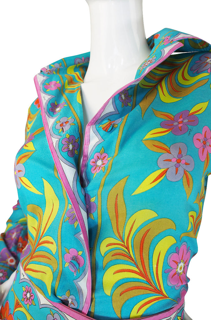 1960s Tropical Emilio Pucci Top & Skirt Set