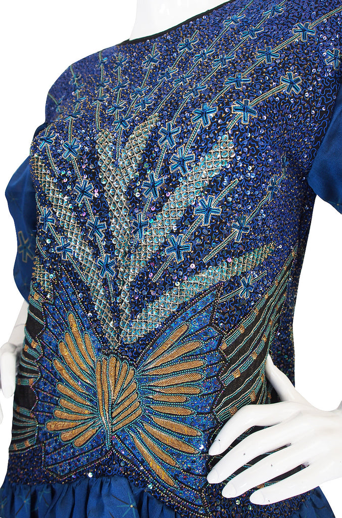 "1987 ""Secrets Of the Nile"" Zandra Rhodes Beaded Gown"