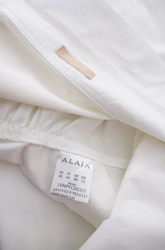 Recent Azzadine Alaia Crisp White Cotton Top