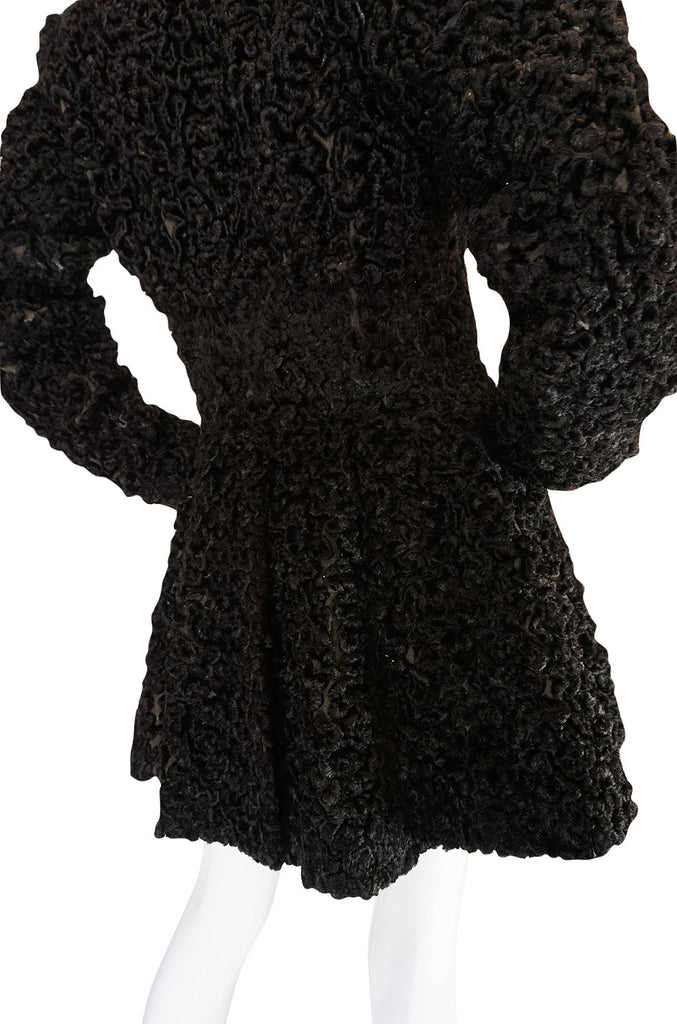 Important Fall 1991 Collection Alaia 'Astrakhan' Faux Fur Coat