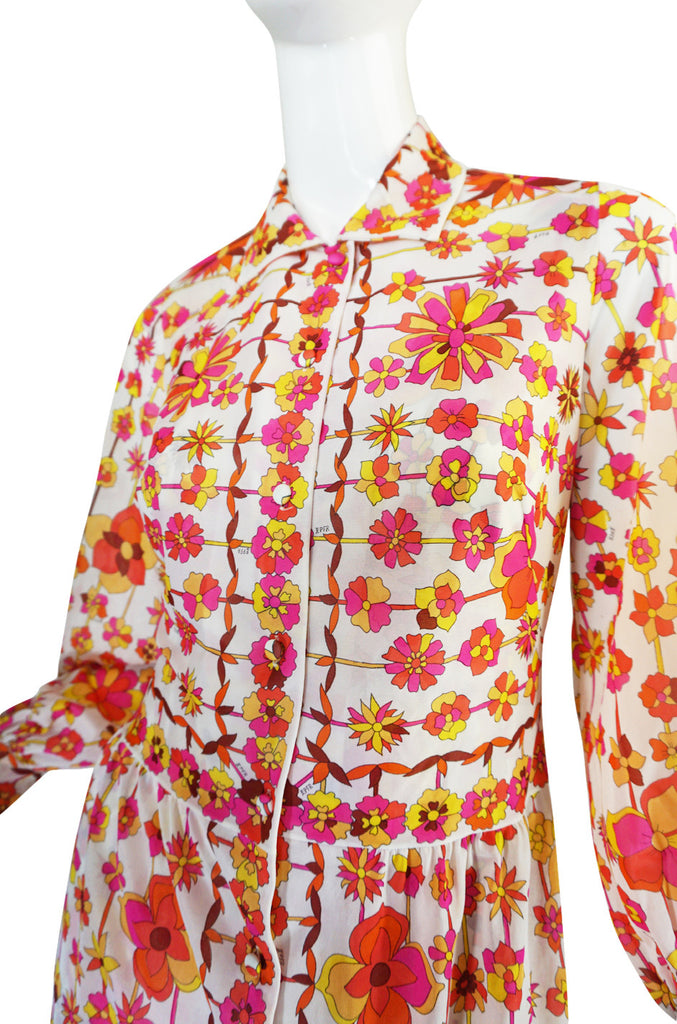 1960s Pink & Coral Formfit Rogers Pucci Dress Set