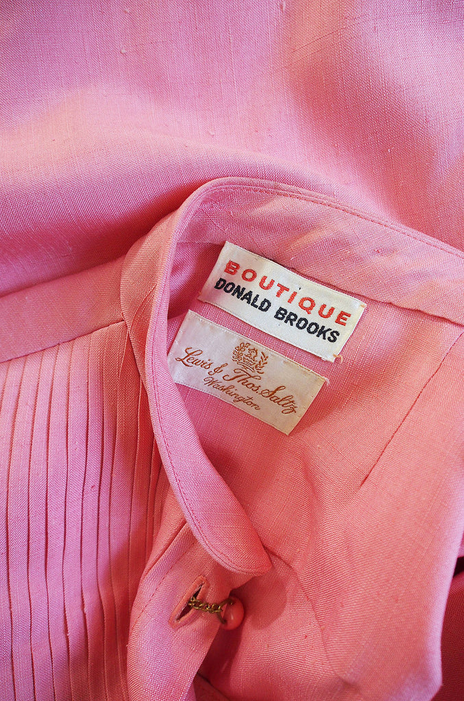 1970s Donald Brooks Silk Salmon Shift