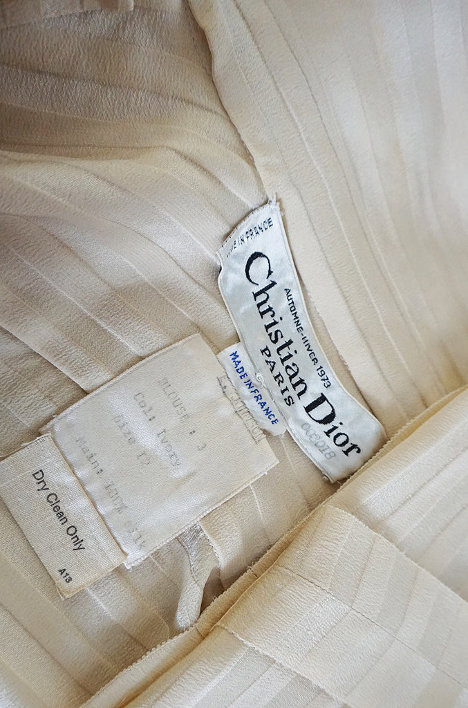 A/W 1973 Haute Couture Christian Dior Silk Top