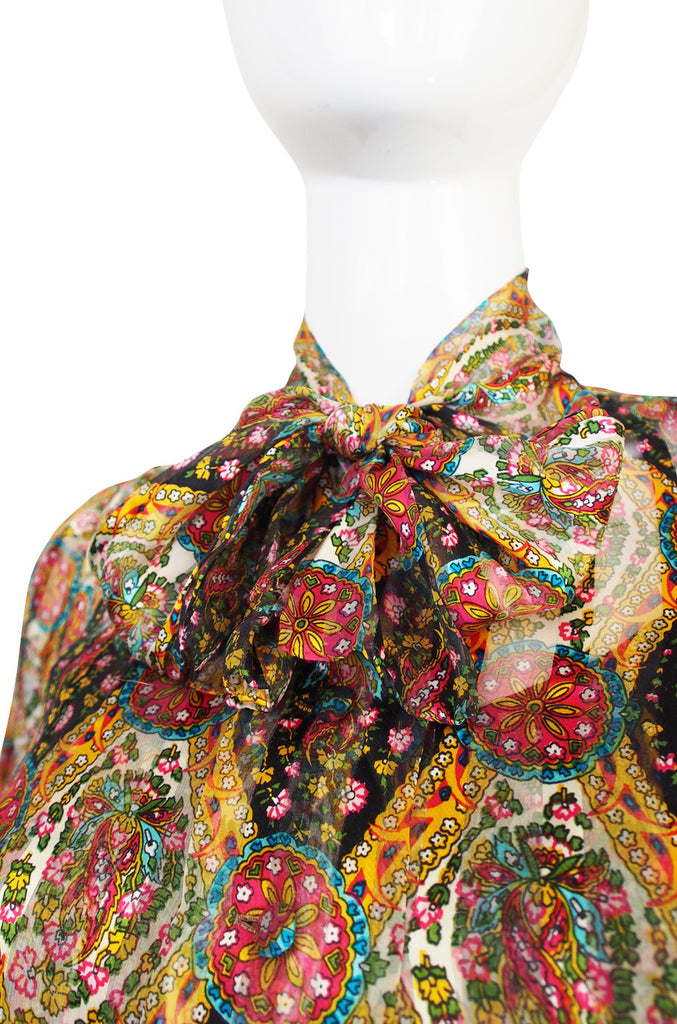 1974 True Haute Couture Chanel Silk Chiffon Dress