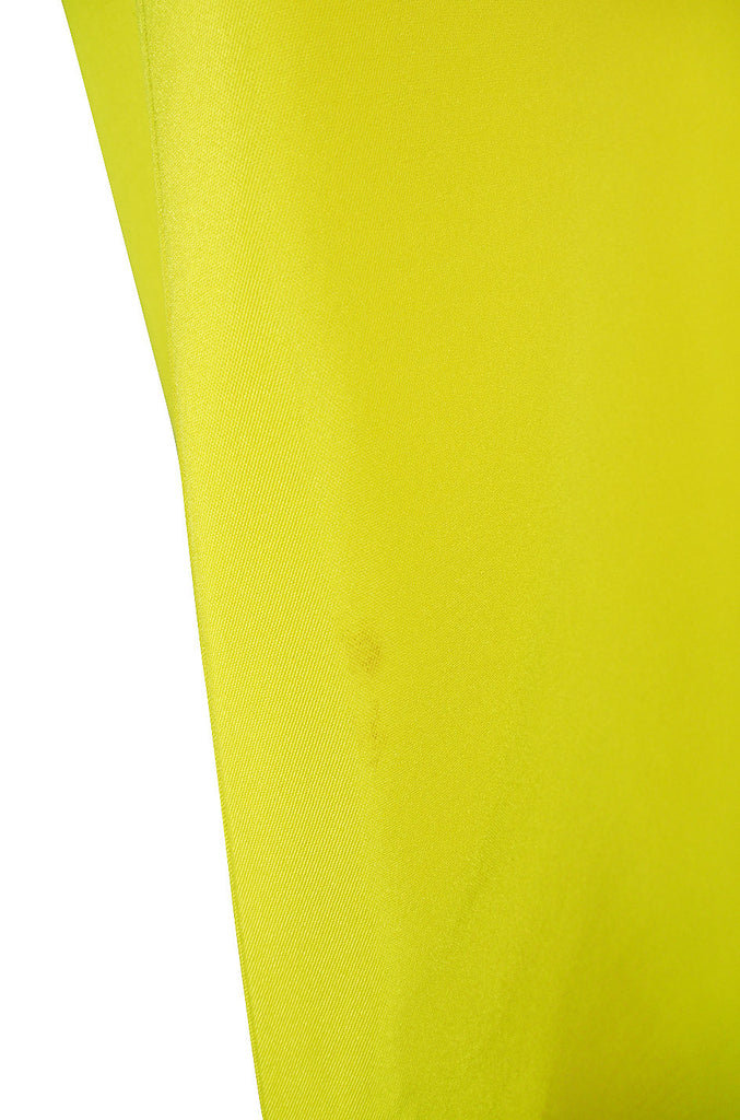 Rare 1960s Custom Sculptural Yellow Givenchy Gown