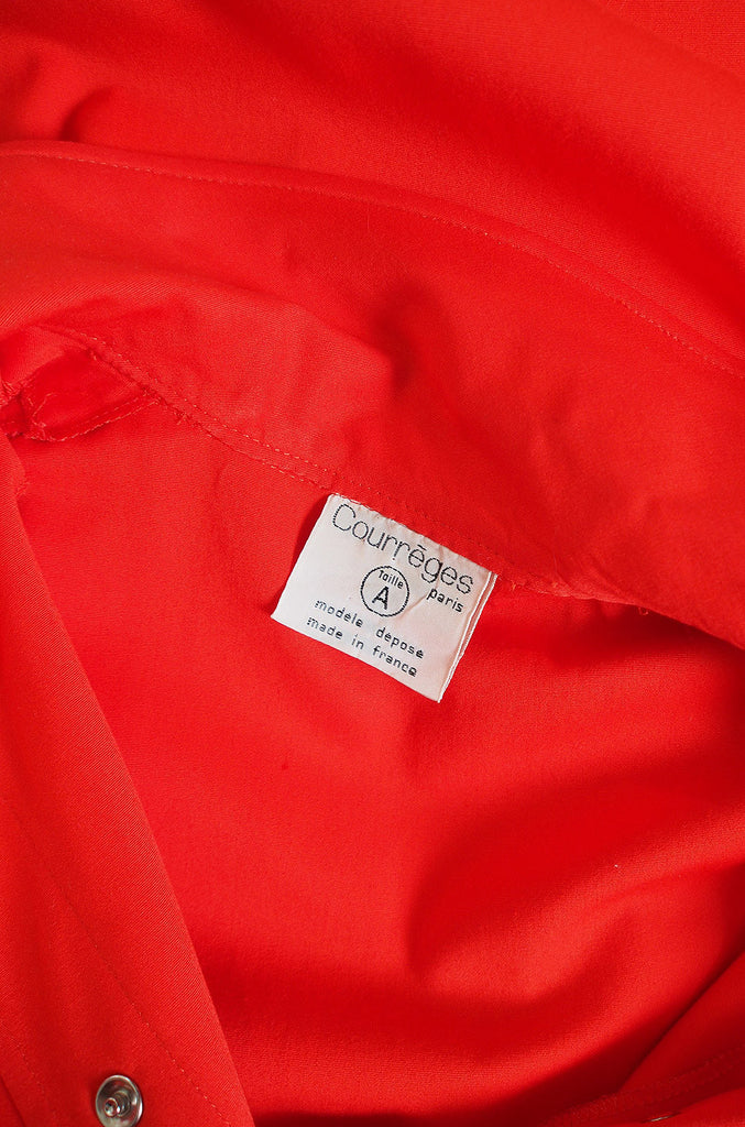 1960s Red Andre Courreges Trench Coat