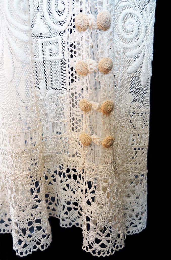 Edwardian Lace, Net & Crochet Tea Gown