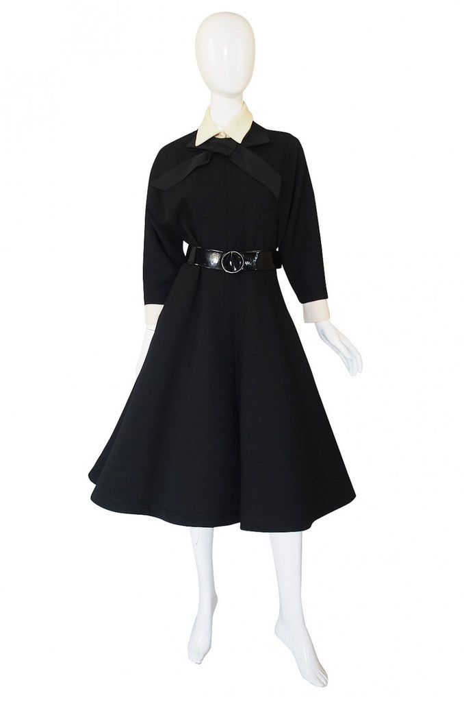 1950s Carosa Roma Demi-Couture Day Dress