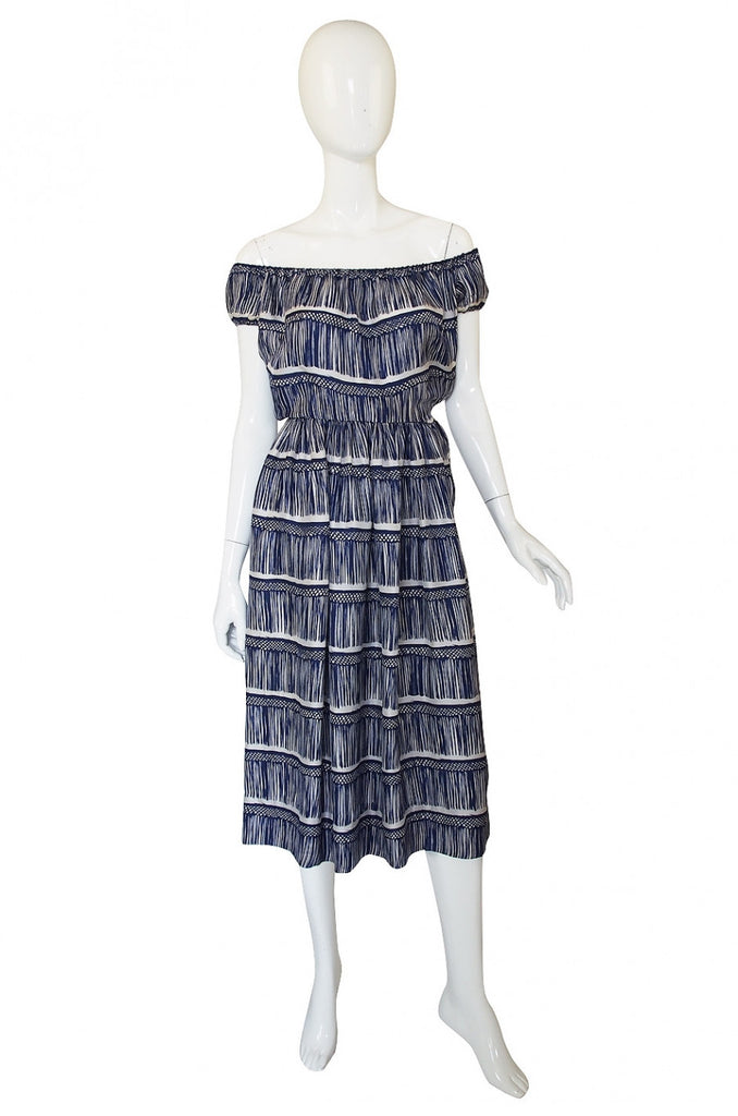 Rare 1940s Nettie Rosenstein Silk Dress