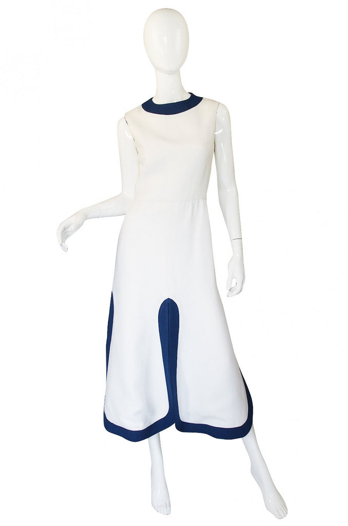 1960s Pierre Cardin Car Wash Hem Maxi