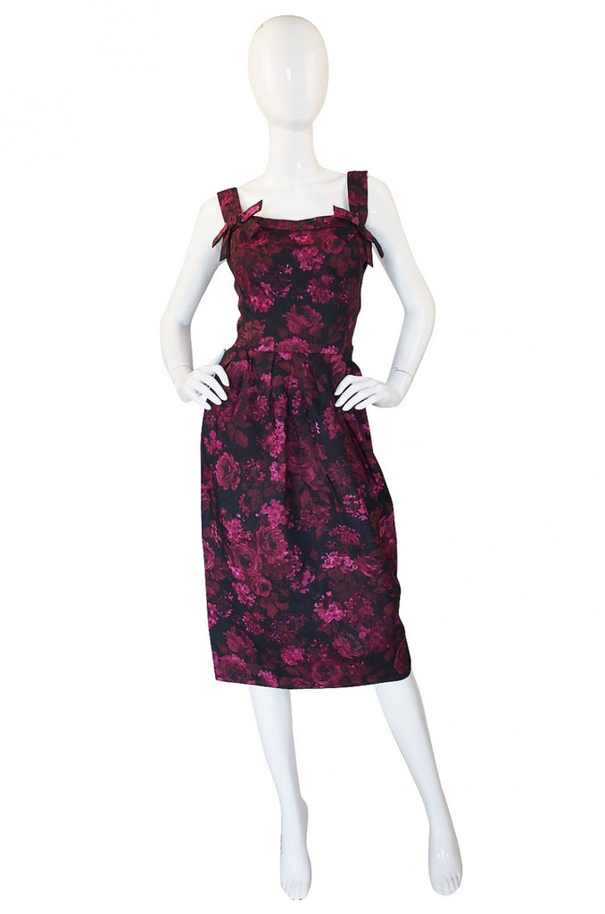 Rare 1955 Christian Dior Silk Dress
