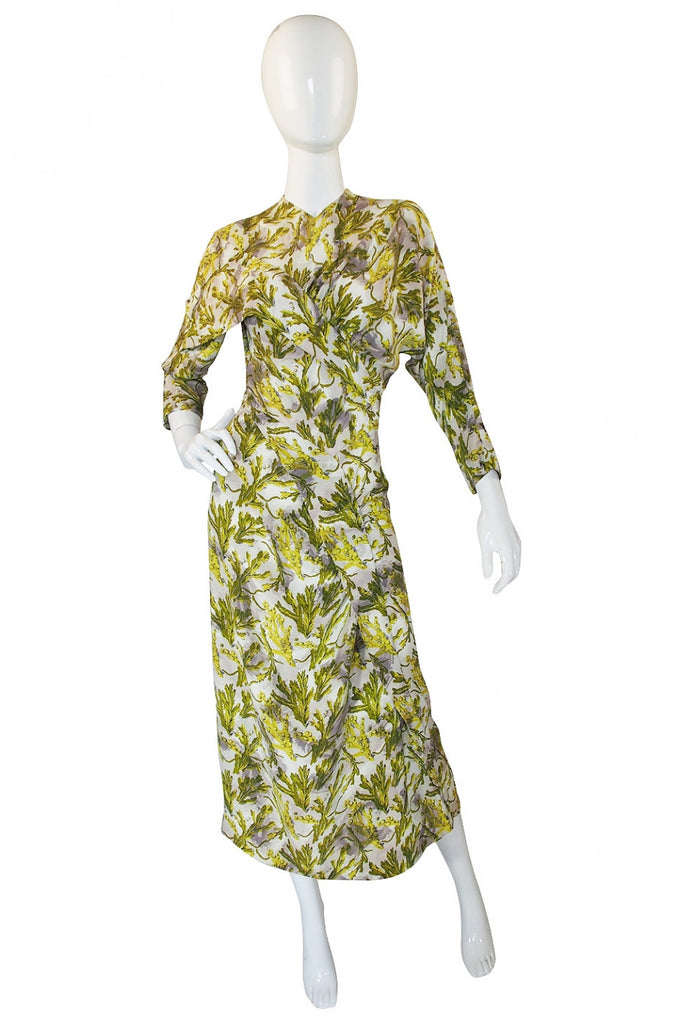 1940s Dorothy OHara Pin Up Silky Rayon Dress
