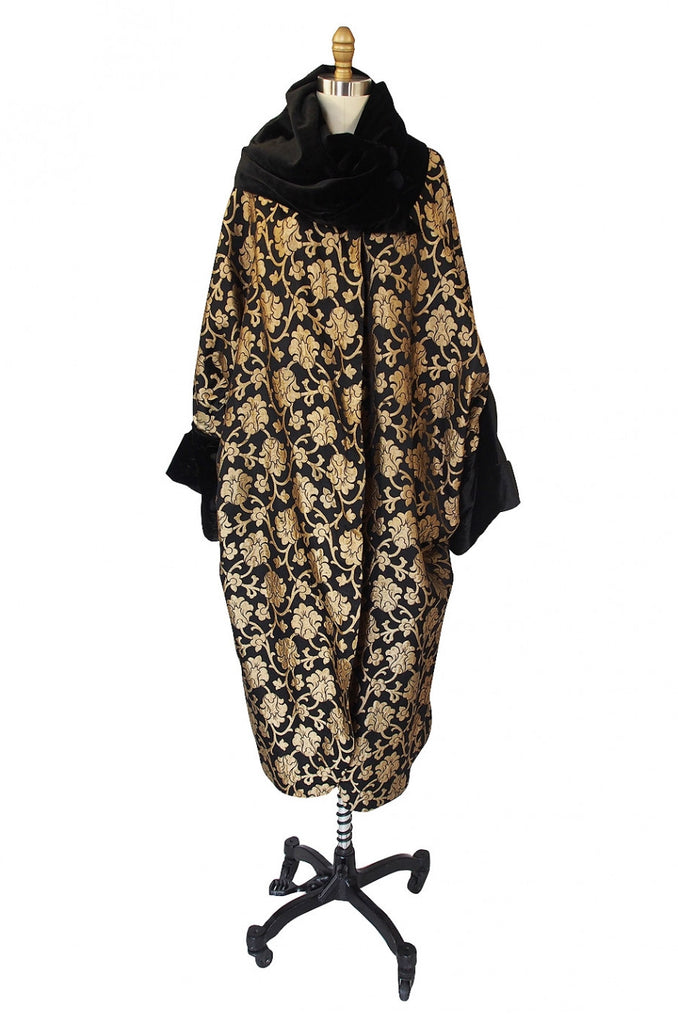 1920s Gold Lame Flapper Cocoon Coat