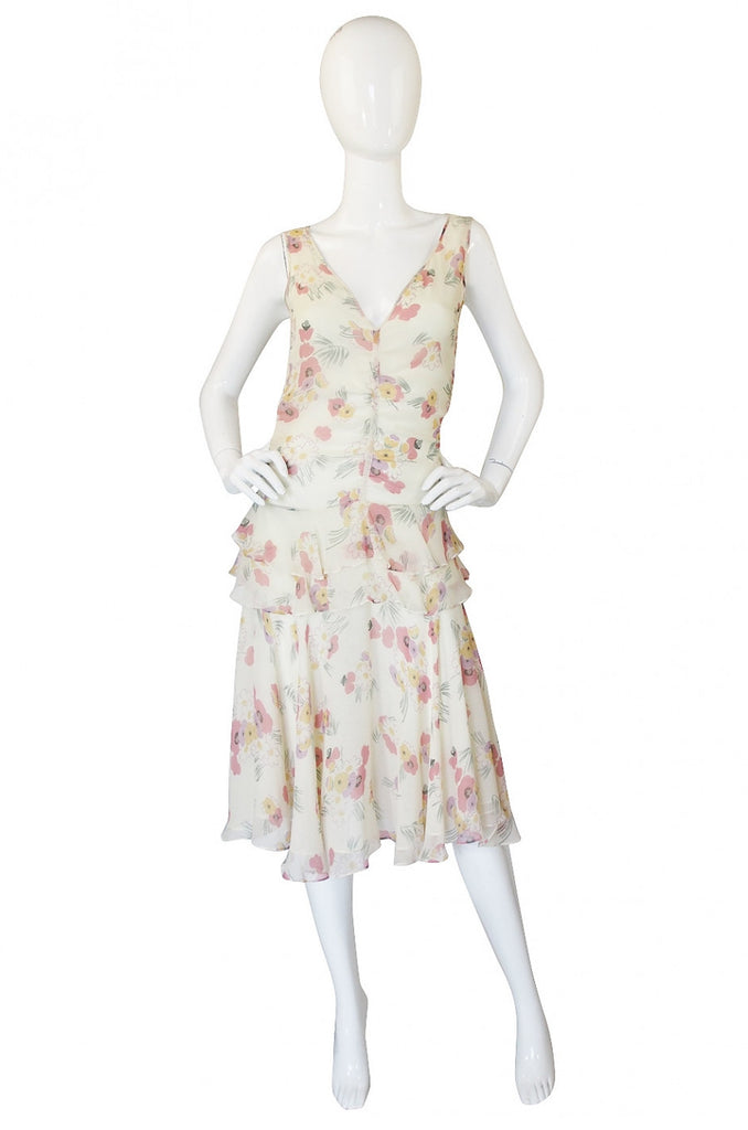 1990s Silk Chiffon Jil Stuart Dress