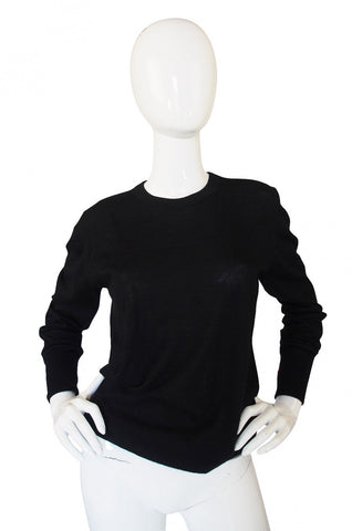 1990s Chanel Cashmere Black Sweater