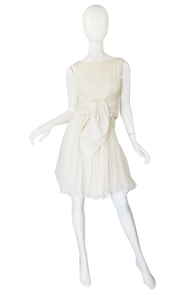 Spring 2008 Runway Giambattista Valli Cream Silk Dress