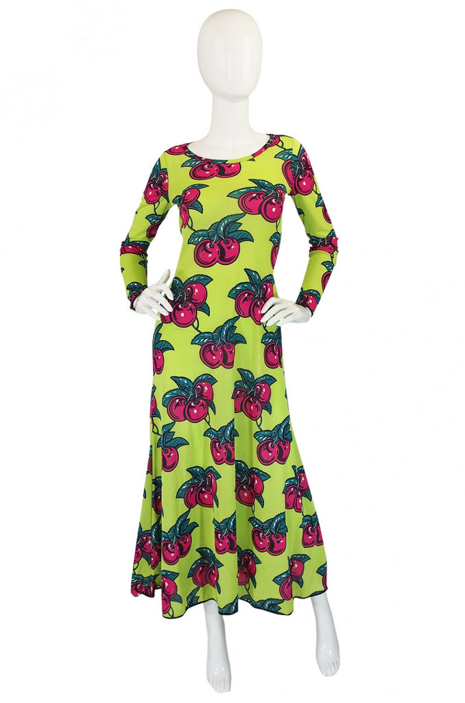 1970s Betsey Johnson Alley Cat Cherry Dress