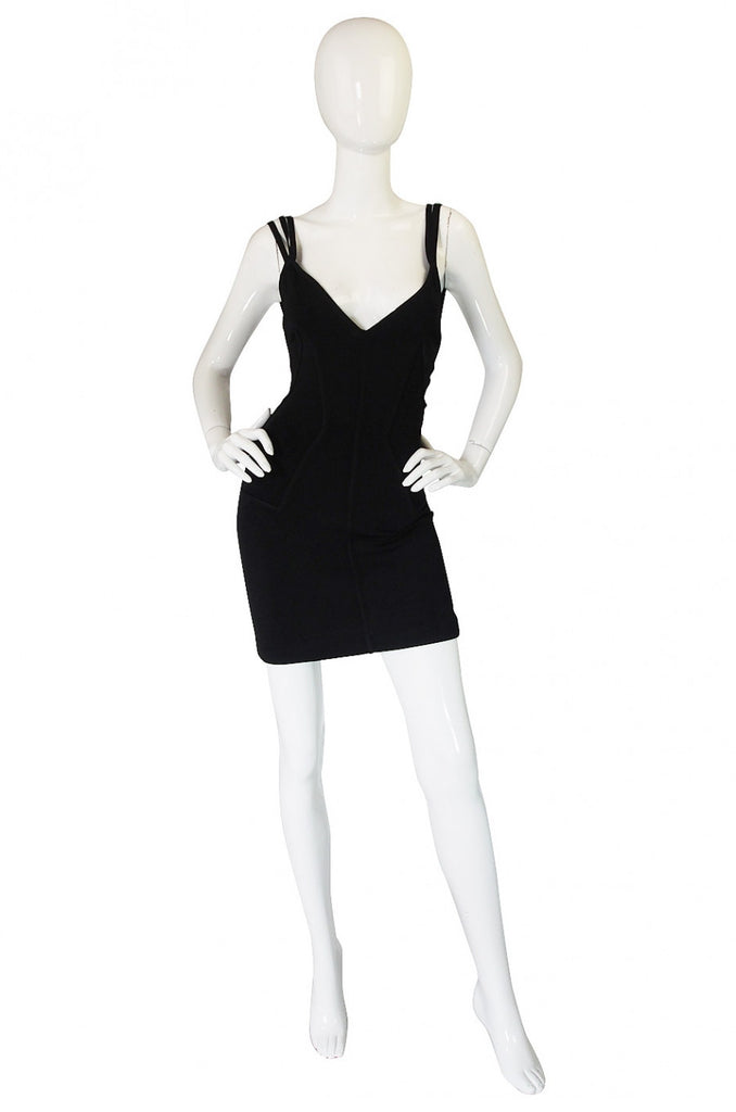 1980s Triple Strap Alaia Dress