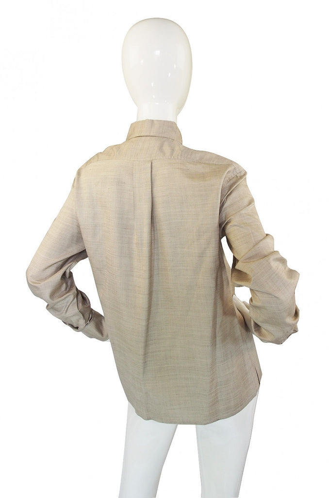 1970s Dior Cotton Suiting Top