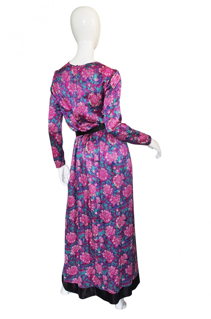 1970s Chanel Silk Satin Maxi Dress