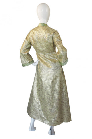 1960s Dynasty Gold Hostess Gown