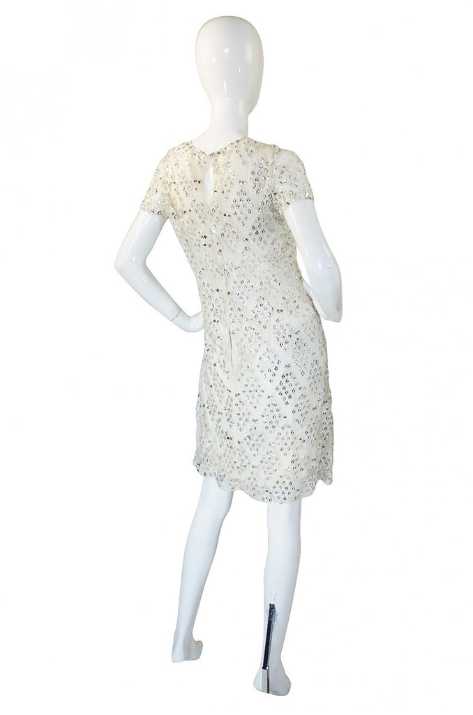 1960s Malcolm Starr Metal Snowflake Dress