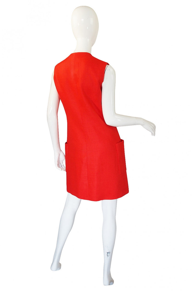 1960s Orange Norman Norell Dress