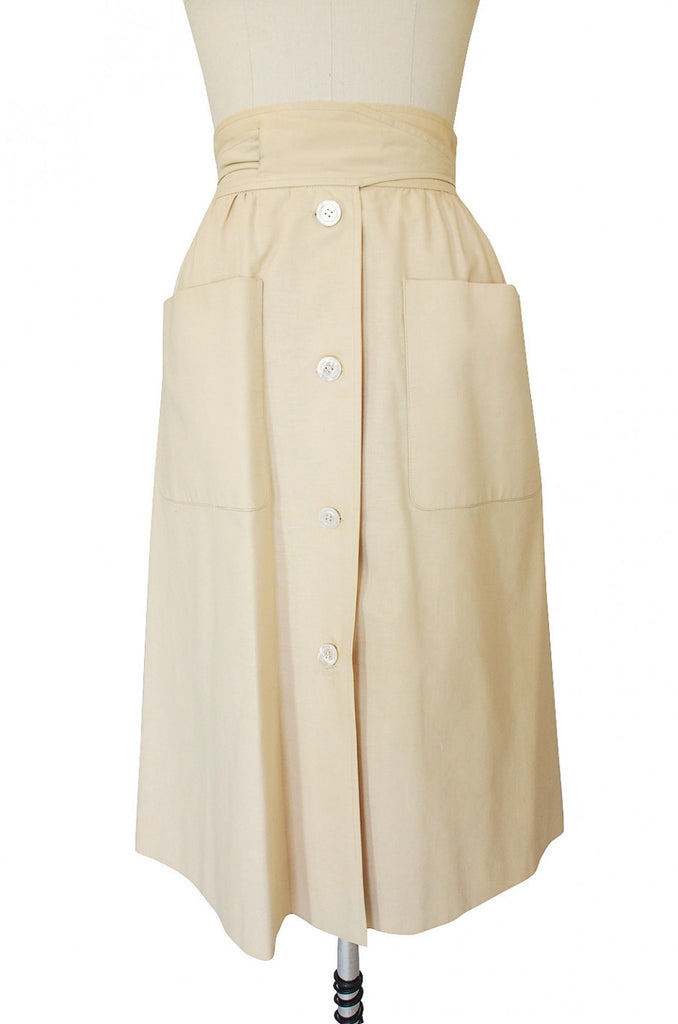 1970s Valentino Big Pocket Skirt