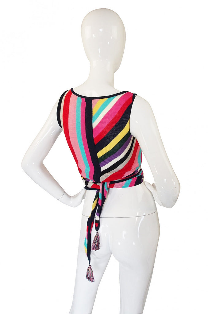 1973 Valentino Wrap Stripe Top