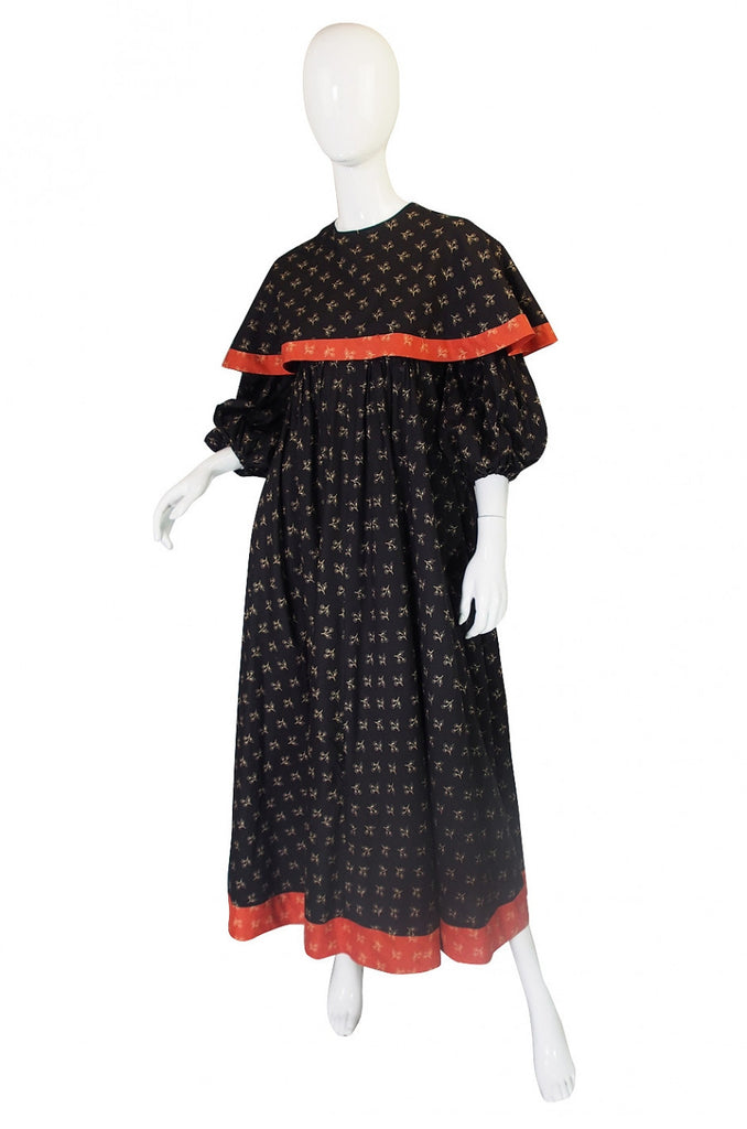1971 RTW Thea Porter Indian Cotton Maxi Dress
