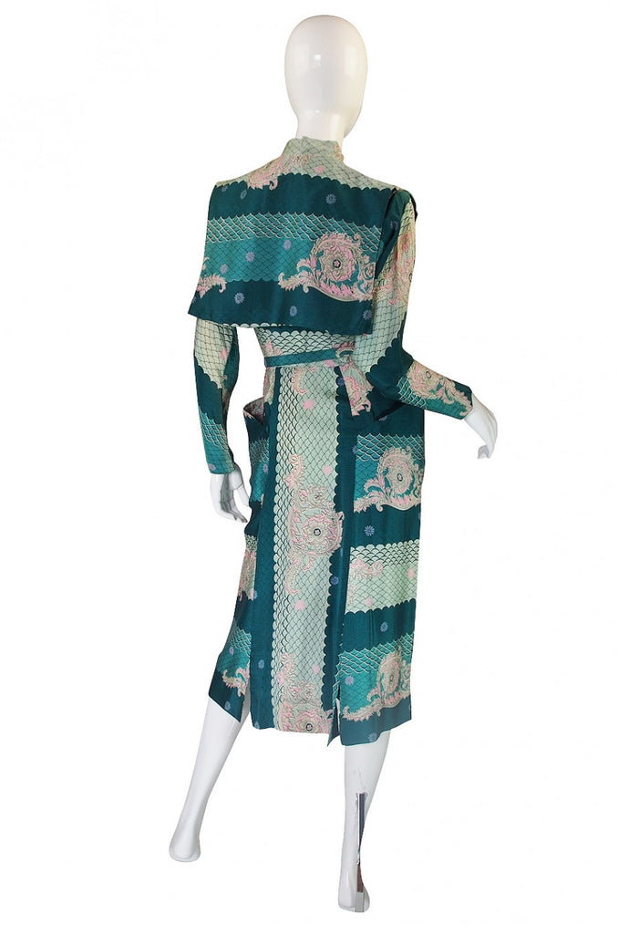1940s Claudia Young Silk Dragon Dress