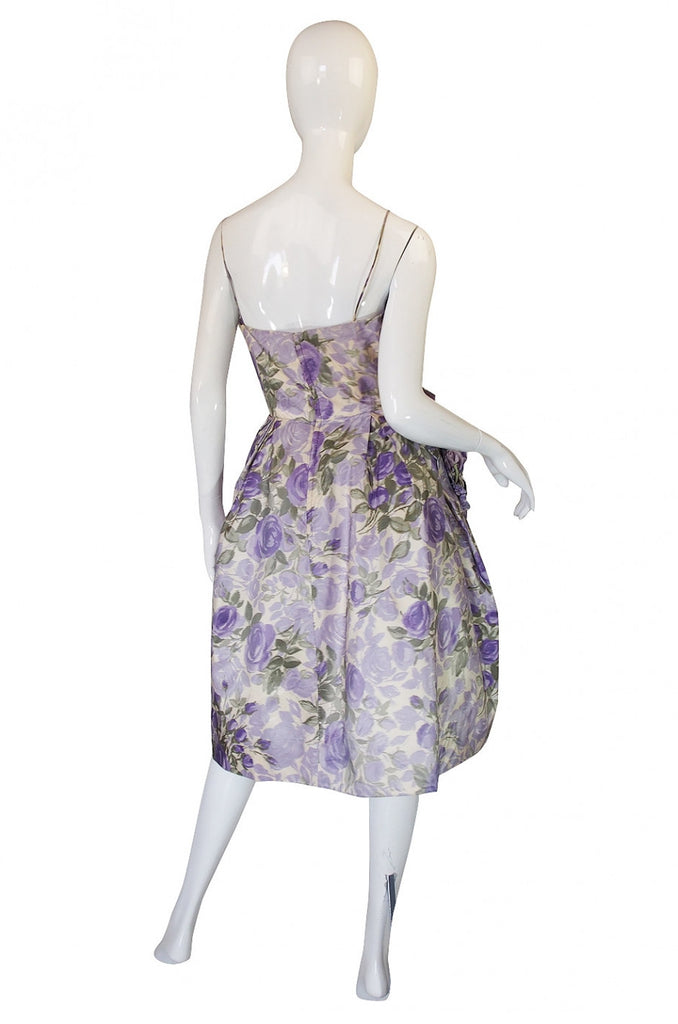 1950s Helena Barbieri Silk Dress