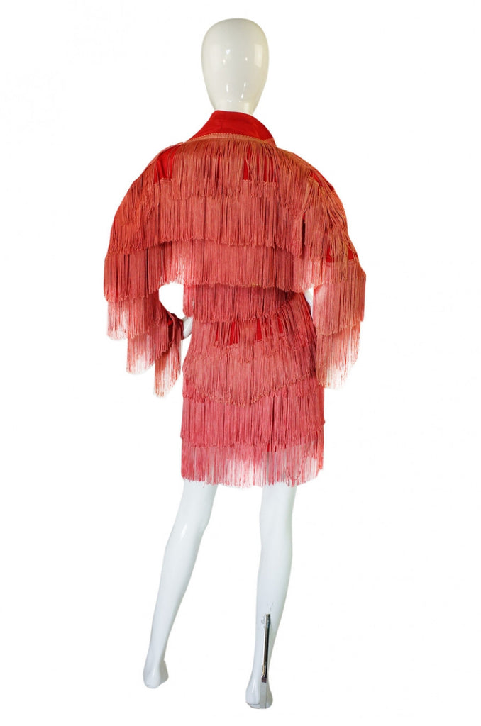 1970s OMO Norma Kamali Elaborately Fringed Suit