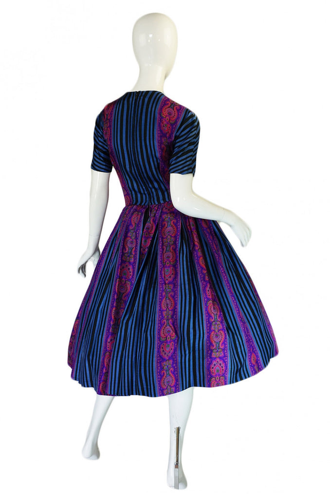 1950s Amazing Anne Fogarty Silk Dress