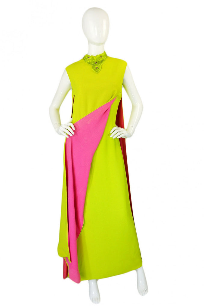 1960s Junior Vogue Original Crepe Gown