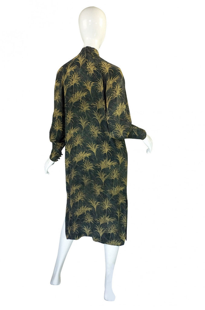 Late 1970s Ted Lapidus Silk Tunic Dress