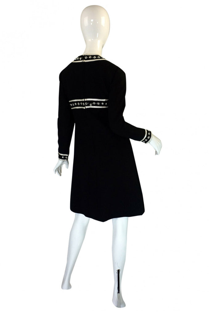 1960s Silver Bead Space Age Mod Dress