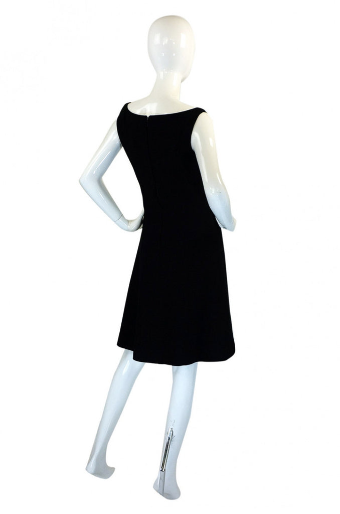Chic 1960s Mr Blackwell Custom Dress