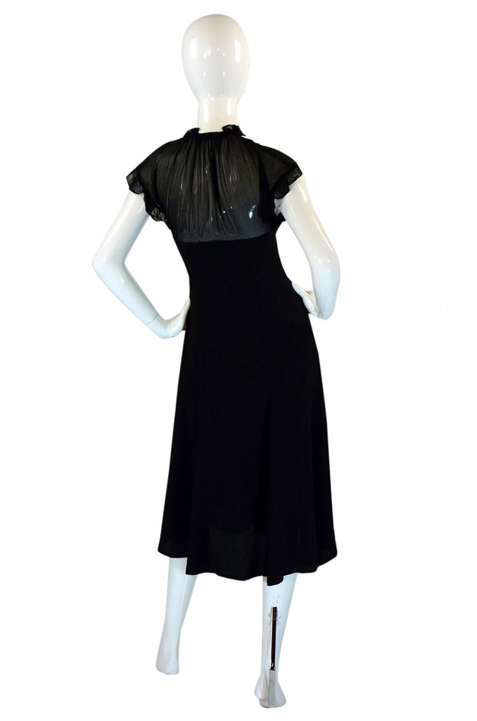 1970s Ossie Clark Radley Crepe Dress