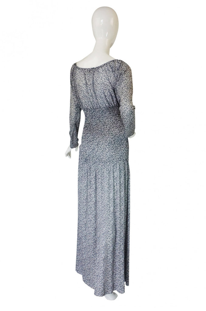 1970s Yves Saint Laurent Silk Maxi Dress