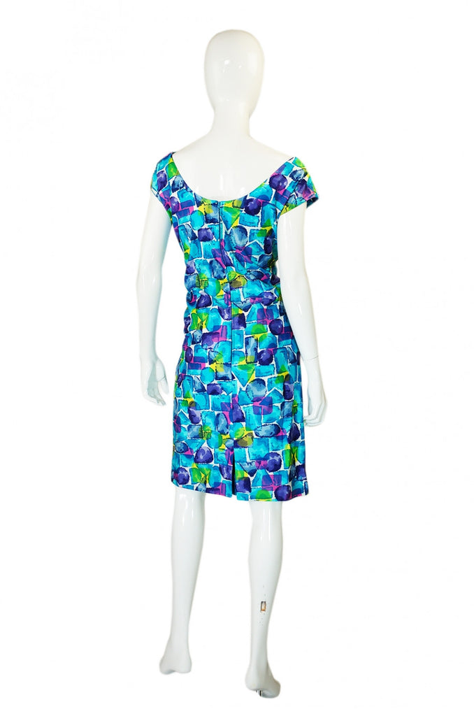 1960s Alix of Miami Floral Fitted Dress