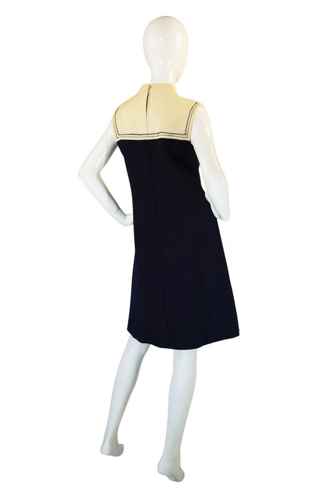 Early 1980s Stitch Detail Courreges Dress