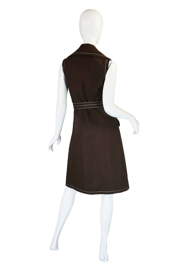 1960s Geoffrey Beene Top Stitch Dress