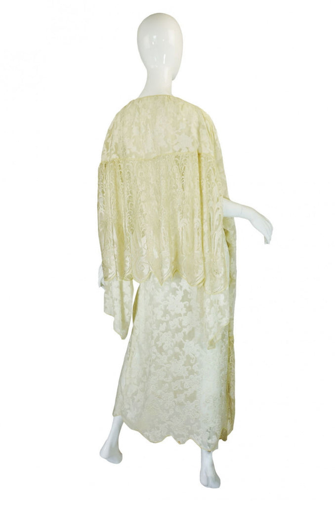 1920s Silk Lace Peignoir or Evening Piece