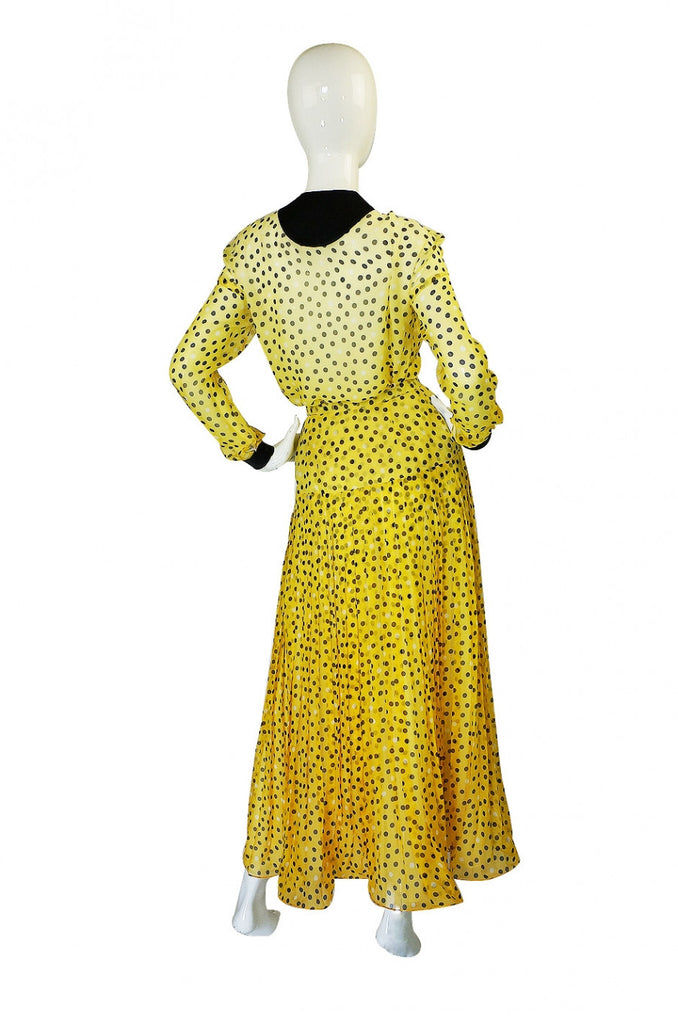 1970s Dotted Silk Ombre Geoffrey Beene