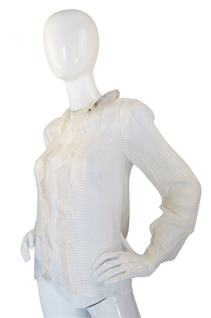 1960s Silk Ruffle Courreges Top